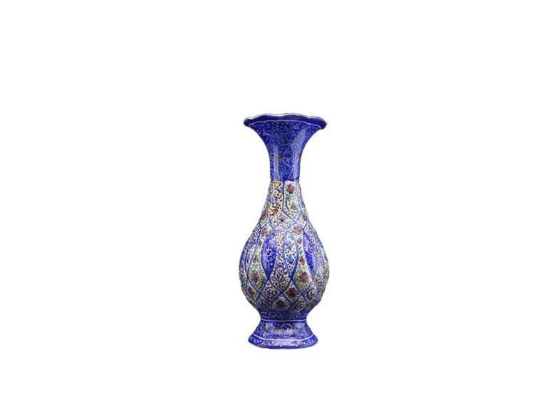 خرید گلدان میناکاری 16 سانتی صنایع دستی اصفهان
