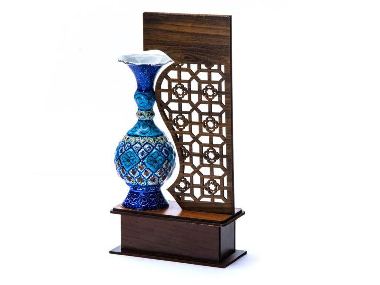 تندیس گلدان میناکاری 16 سانتی اصفهان