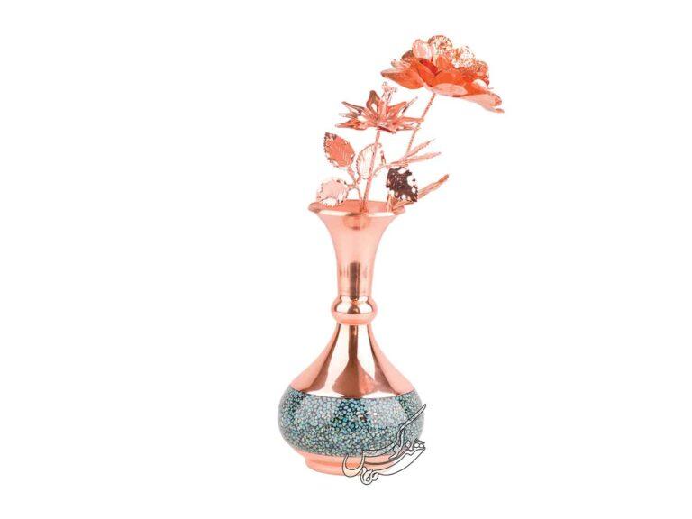 گلدان شلغمی فیروزه کوبی