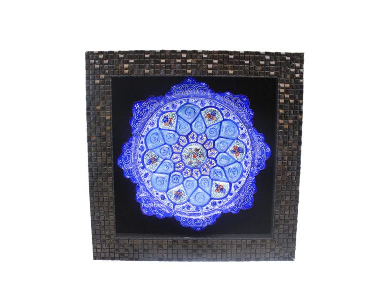 قاب بشقاب میناکاری ۱۶ سانتی صنایع دستی حافظ اصفهان