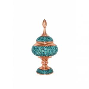 شکلات خوری فیروزه کوبی مسی سایز 30 اصفهان