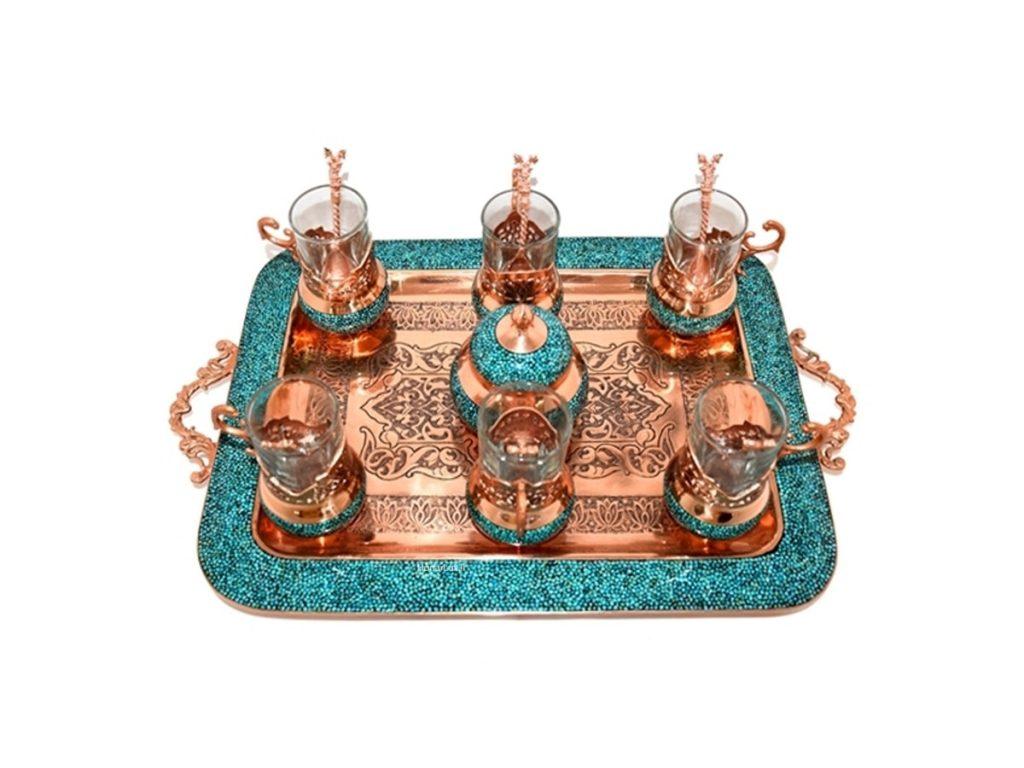 سرویس چای خوری فیروزه کوبی اصفهان
