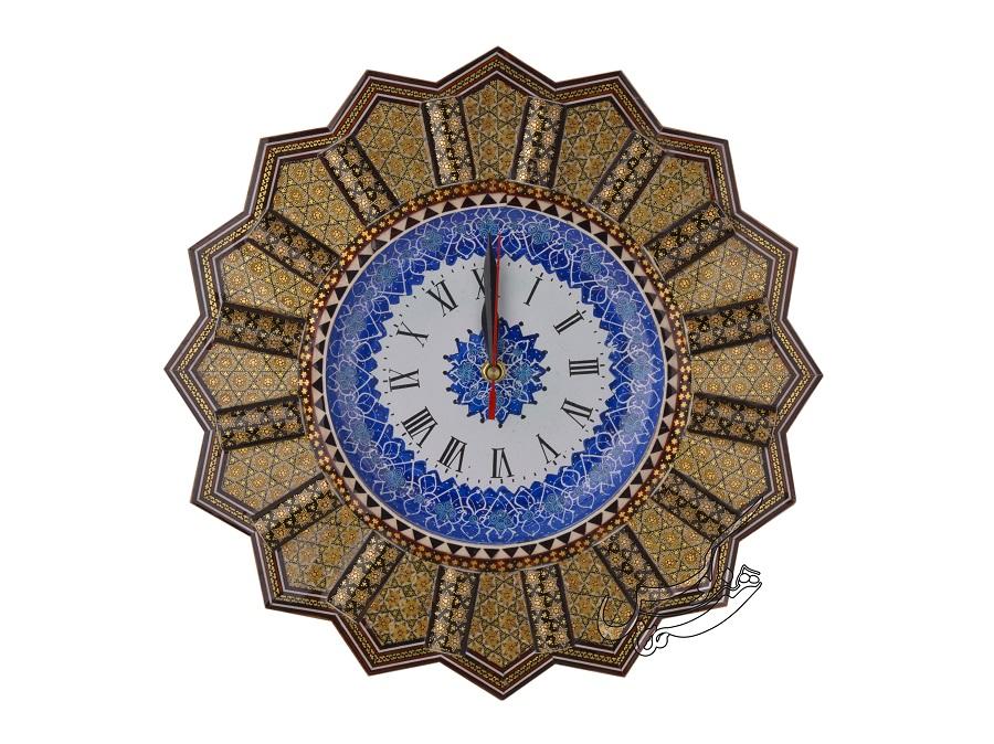 ساعت صنایع دستی خاتم و مینا