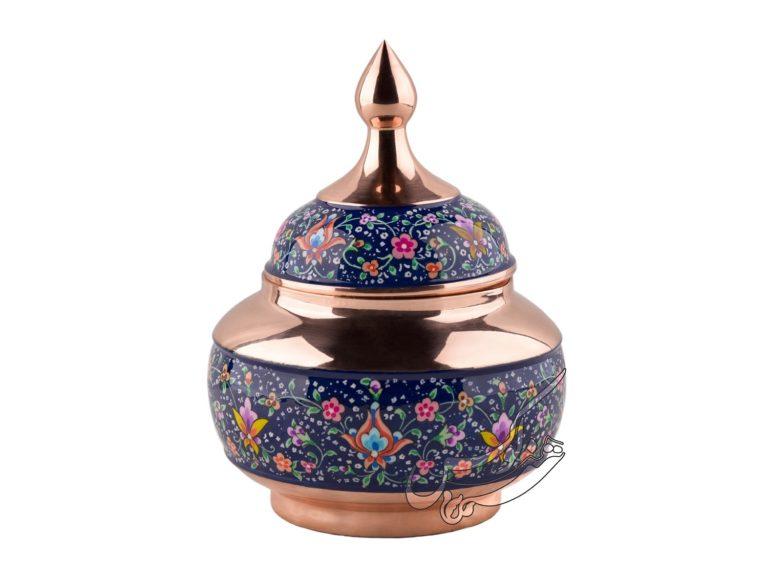 قندان مس و پرداز شیرازی