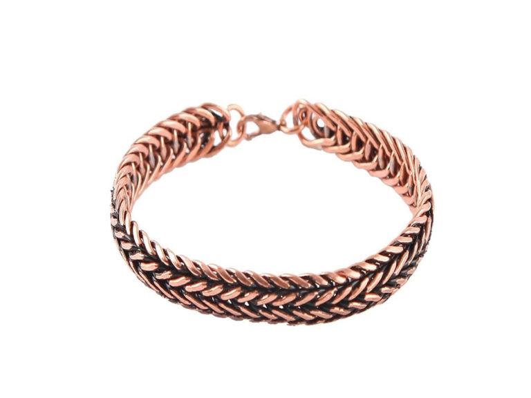 دستبند مسی زنجیری