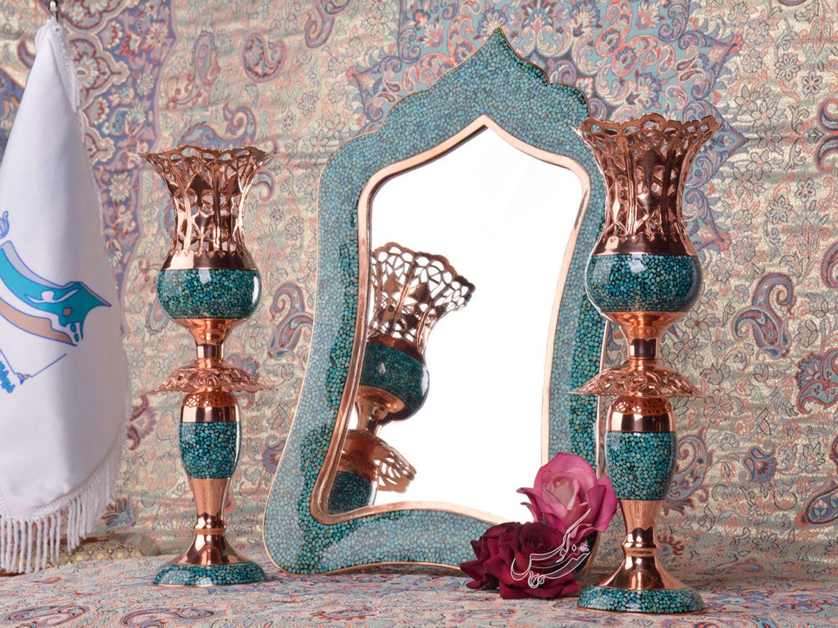آینه و شمعدان فیروزه کوبی