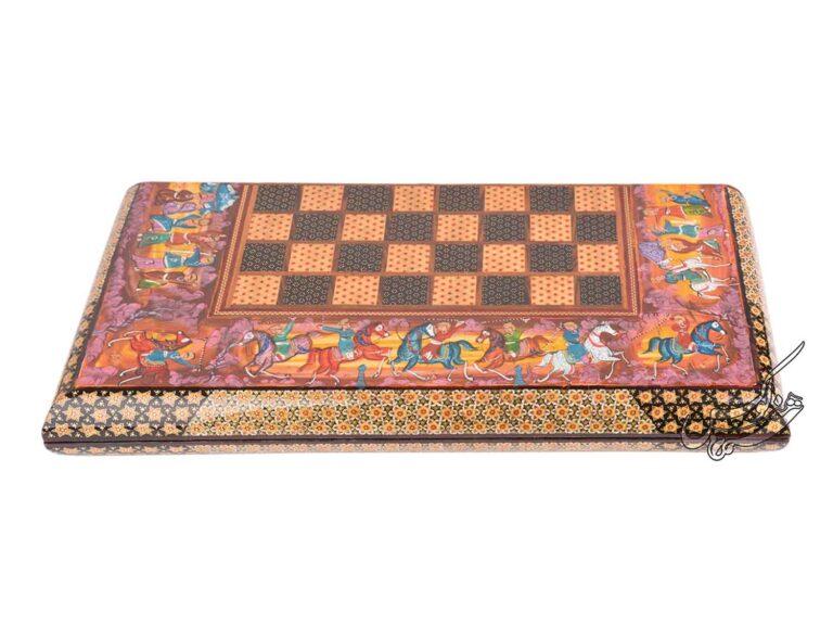 صفحه شطرنج و تخته نرد خاتم کاری اصل