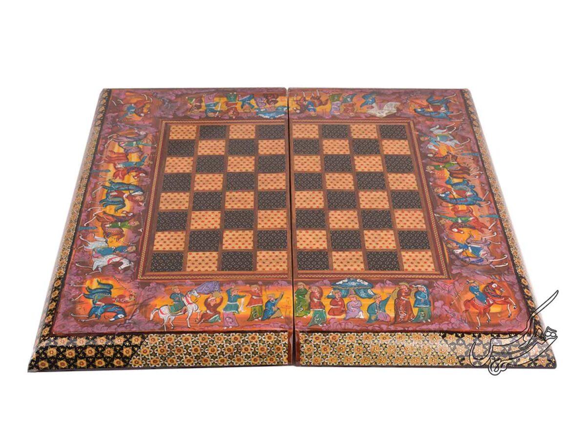 صفحه شطرنج و تخته نرد خاتم