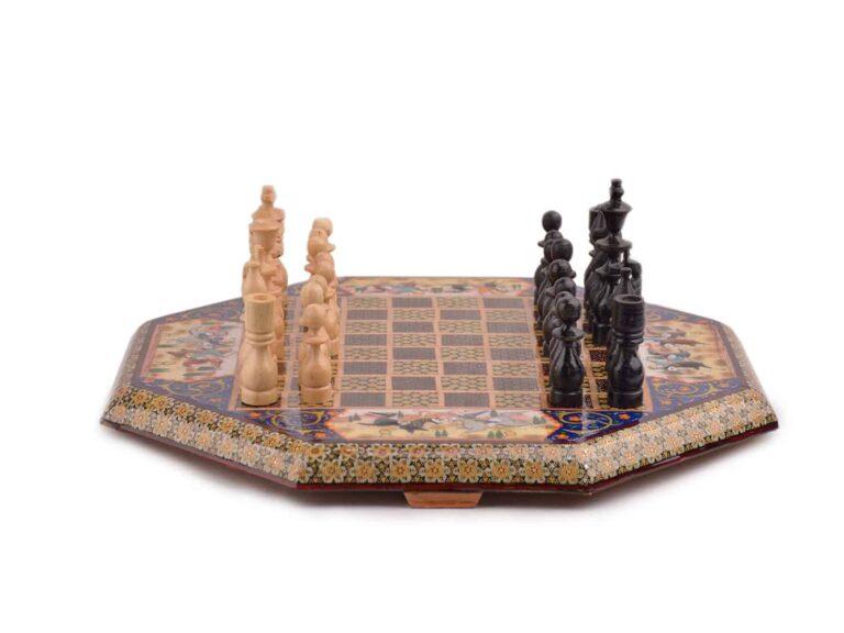 صفحه شطرنج خاتمکاری با مهره