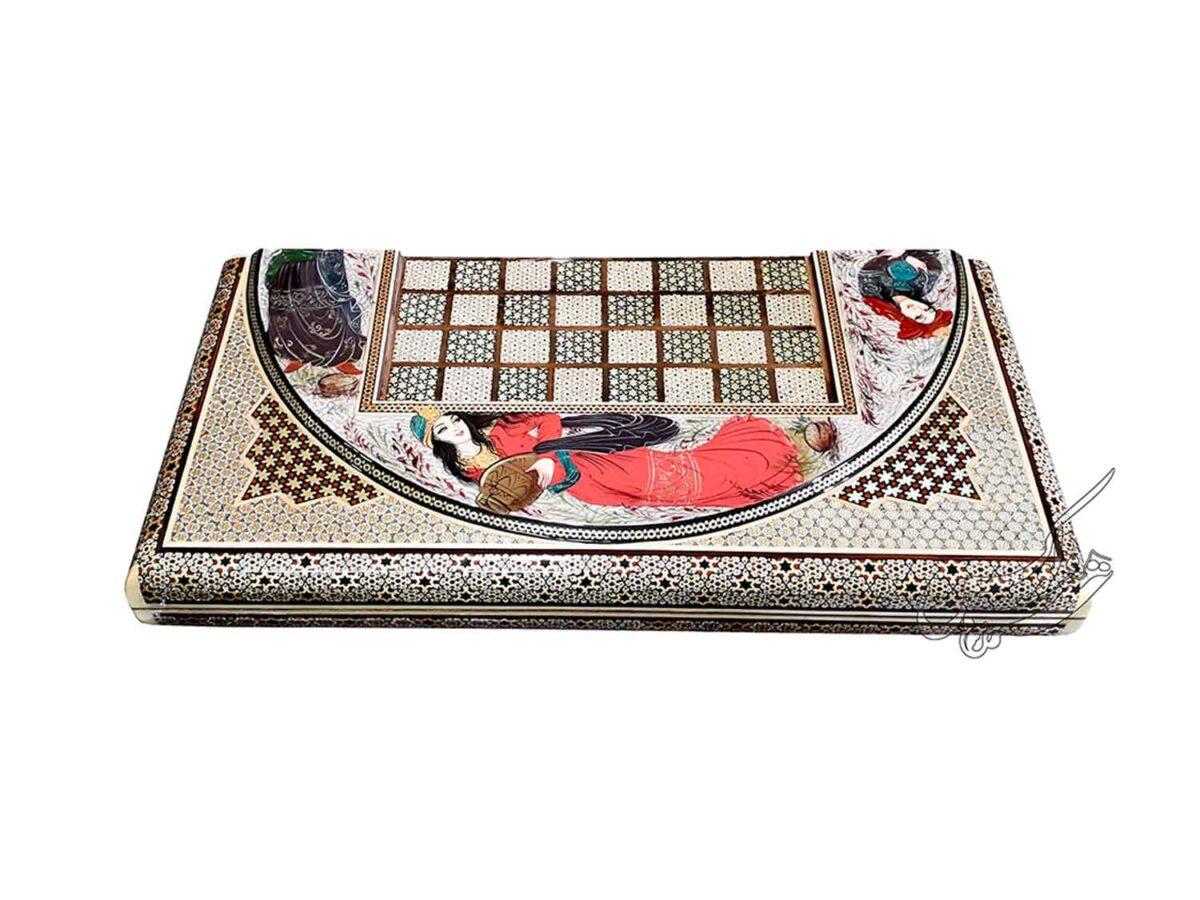 تخته نرد و صفحه شطرنج خاتمکاری
