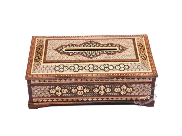جعبه دستمال خاتم طرح چهارگل