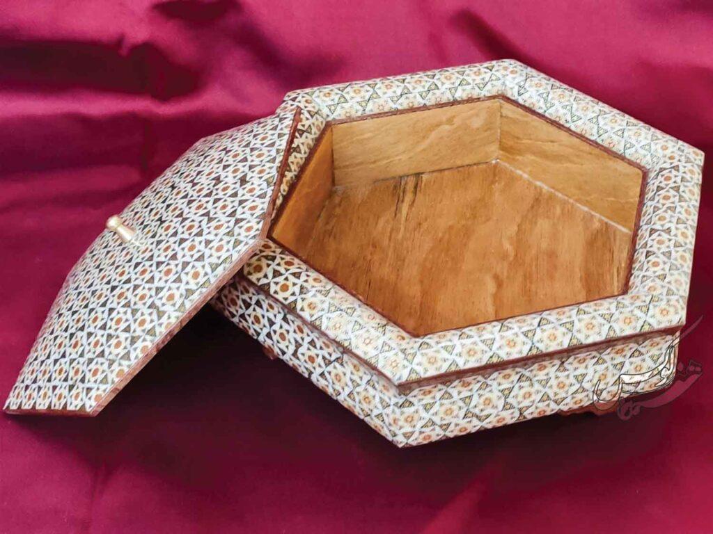 جعبه شکلات خوری سلطنتی خاتم کاری
