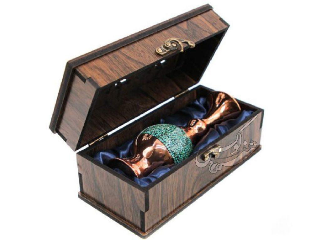 جعبه گلدان صراحی فیروزه کوبی