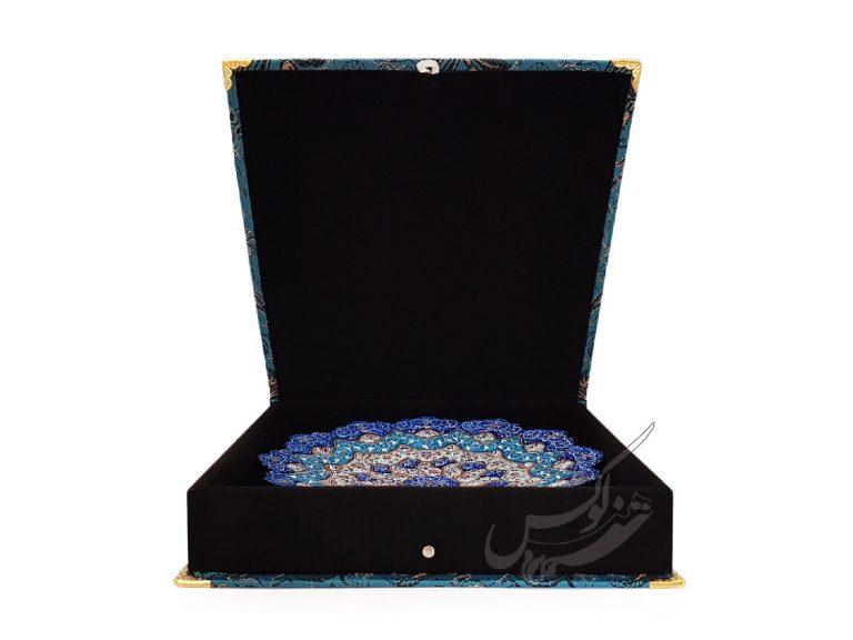 بشقاب میناکاری با جعبه زیبا