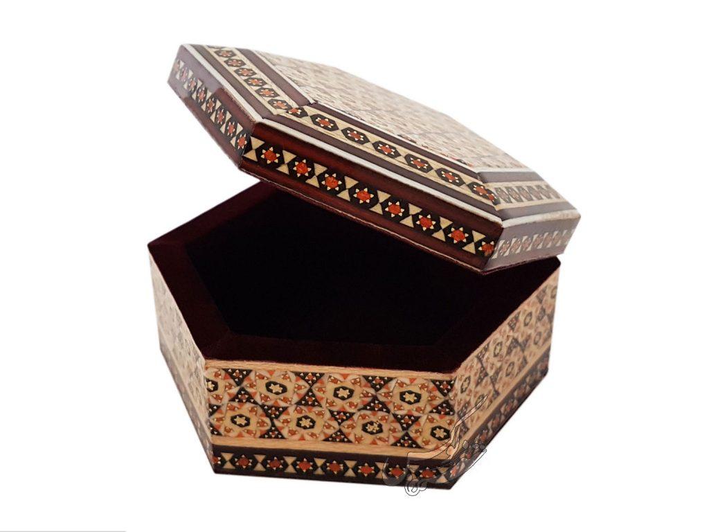 جعبه خاتمکاری شش ضلعی